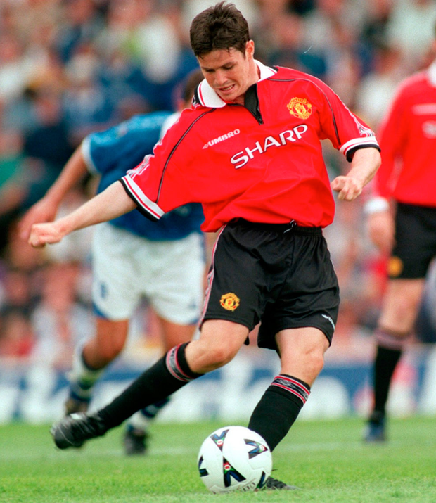 All over now: Philip Mulryne in his Manchester United days