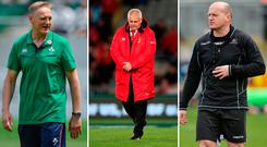 Joe Schmidt, Warren Gatland and Gregor Townsend