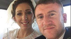 Paddy Barnes' wedding day. Picture: Twitter via Belfast Telegraph