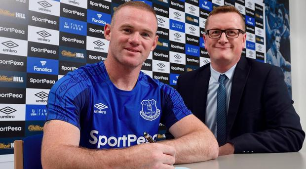 Wayne Rooney has completed his move back to Everton. Pic: Twitter/@Everton