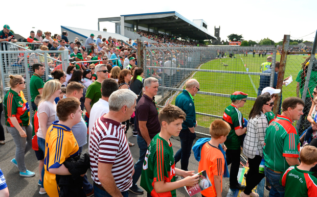 Mayo fans in Ennis at the weekend