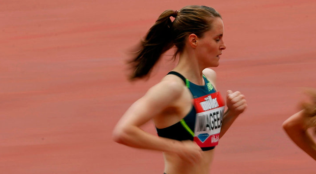 Mageean passed 1500m in 4:03.57, the second quickest time of her career. Photo credit: Paul Harding/PA Wire