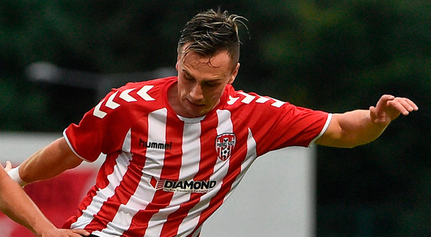 Aaron McEneff of Derry City in action. Photo by David Maher/Sportsfile