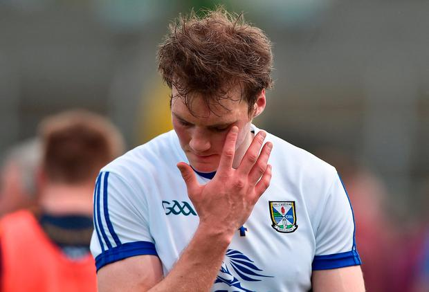 A dejected-looking Gearoid McKiernan after the game. Photo: David Maher/Sportsfile