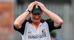 Kilkenny boss Brian Cody reacts to a missed chance. Photo: BRENDAN MORAN/SPORTSFILE
