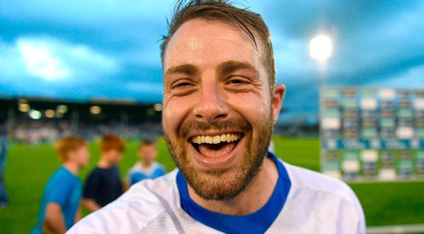 Noel Connors celebrates Waterford's victory. Photo: RAY McMANUS/SPORTSFILE
