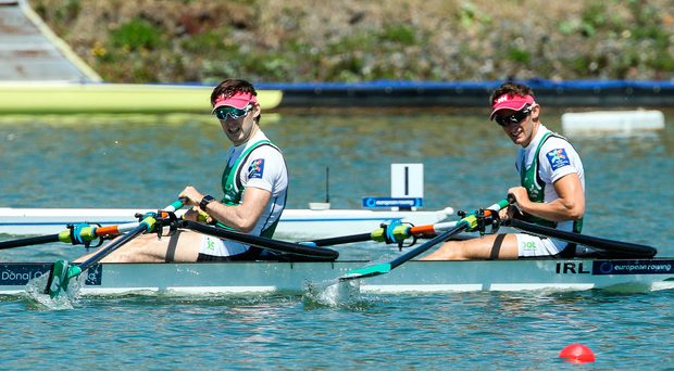 The Olympian brothers had a high-pressure weekend in the lightweight men's double. Photo by Sportsfile
