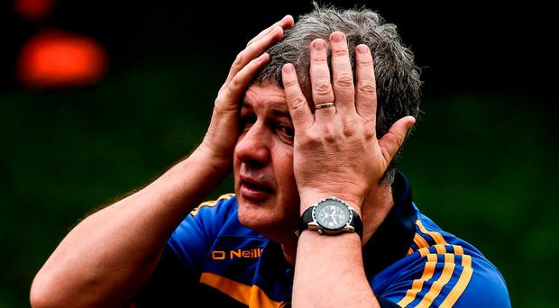 An emotional Kevin McStay, manager of Roscommon, after victory over Galway. Photo: David Maher/Sportsfile