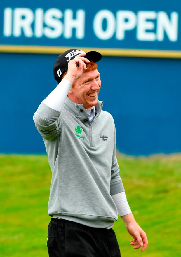 Moynihan's card contained seven birdies and an eagle three, with only one bogey. Photo by Ross Kinnaird/Getty Images