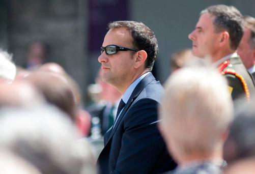 Taoiseach Leo Varadkar pictured during the National Day of Commemoration Ceremony at the Royal Hospital Kilmainham, Dublin. Photo: Gareth Chaney/Collins