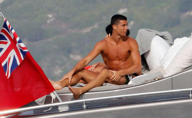 Real Madrid football player Cristiano Ronaldo is seen on July 8, 2017 in Ibiza, Spain. (Photo by Europa Press/Europa Press via Getty Images)