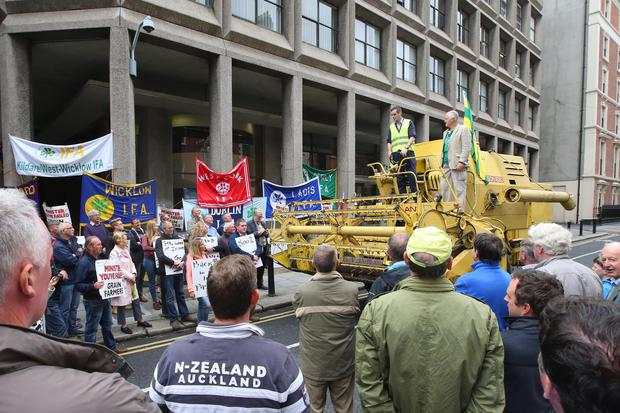 Donegal farmer on Dublin grain protest says office occupation will continue
