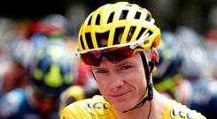 Team Sky rider Chris Froome