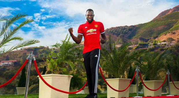 Romelu Lukaku is a Manchester United player. Credit: @ManUtd