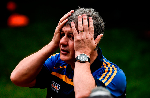 An emotional Kevin McStay. Photo by David Maher/Sportsfile