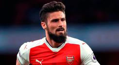 Giroud is wanted by Marseille, Everton and West Ham but Wenger is unwilling to sanction a deal. Photo credit: John Walton/PA Wire