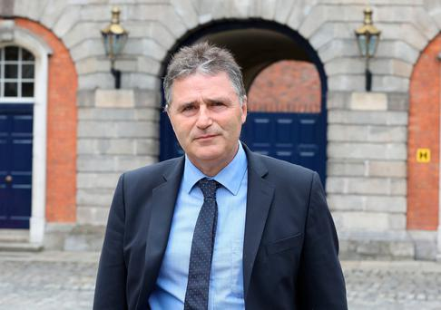 Tusla area manager for Cavan-Monaghan Gerard Lowry at the Disclosures Tribunal in Dublin Castle. Photo: Collins