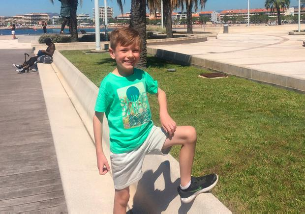 Darragh Cahill is all smiles on holidays