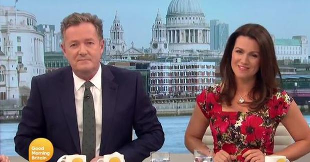 Piers Morgan and Susanna Reid as she announced she preferred working with Bill Turnbull