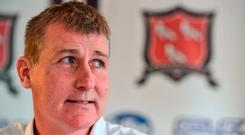 Manager of Dundalk Stephen Kenny during a press conference at Oriel Park, in Dundalk, Co. Louth. Photo by David Maher/Sportsfile