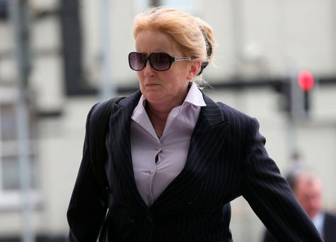 Eve Doherty arrives at the Dublin Circuit Criminal Court. Photo: Collins