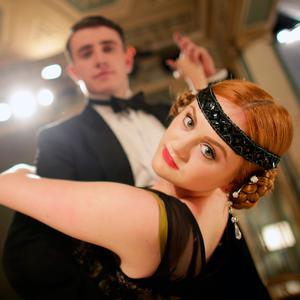 Paul Mescal, who plays Gatsby, and Kate Gilmore, who plays Kitty, in the Gate Theatre's 'The Great Gatsby'. Photo: Gerry Mooney