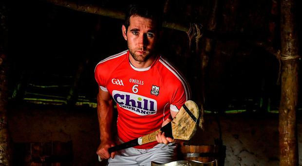 Cork's Mark Ellis at the Irish National Heritage Park in Wexford yesterday for the official launch of the All-Ireland senior hurling championship. Photo by Brendan Moran/Sportsfile