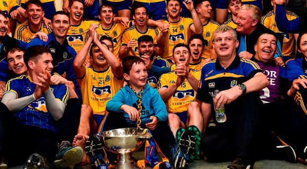 Having taken plenty of criticism after Roscommon's relegation in the league, manager Kevin McStay was fully entitled to revel in the delight of winning a Connacht title. Photo by David Maher/Sportsfile