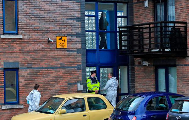 Gardai at the scene in Kimmage. Photo: Collins