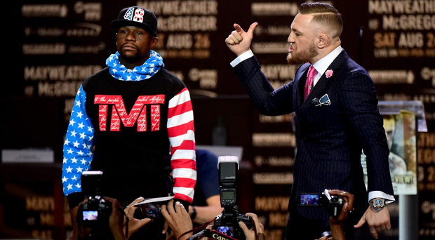 Confident McGregor can declare victory following his first war of words with an uncertain Mayweather