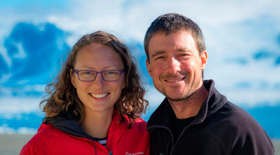 British Antarctic Survey undated handout photo of Julie Baum and Tom Sylvester as the first official wedding will take place in British Antarctic Territory (BAT) when the two polar field guides tie the knot. Neil Spencer/British Antarctic Survey/PA Wire