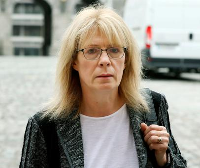Kay McLoughlin at the Disclosures Tribunal in Dublin Castle yesterday. Photo: Collins