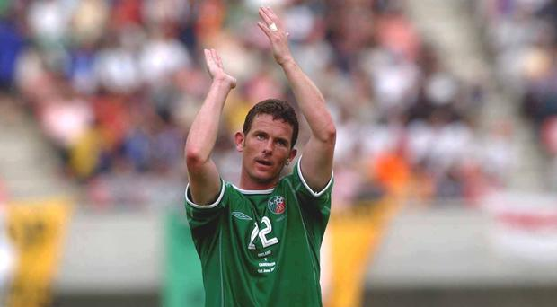 Mark Kinsella in action for Ireland during the 2002 World Cup
