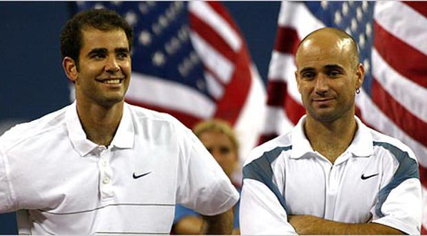 Pete Sampras and Andre Agassi. Getty