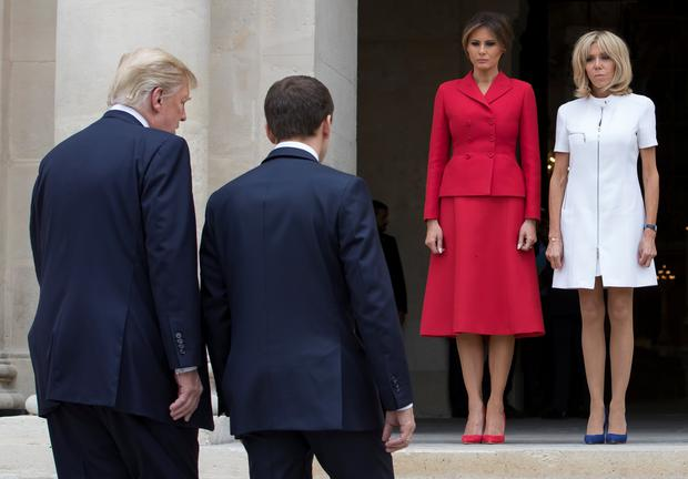President Trump says French first lady is in 'such good shape'