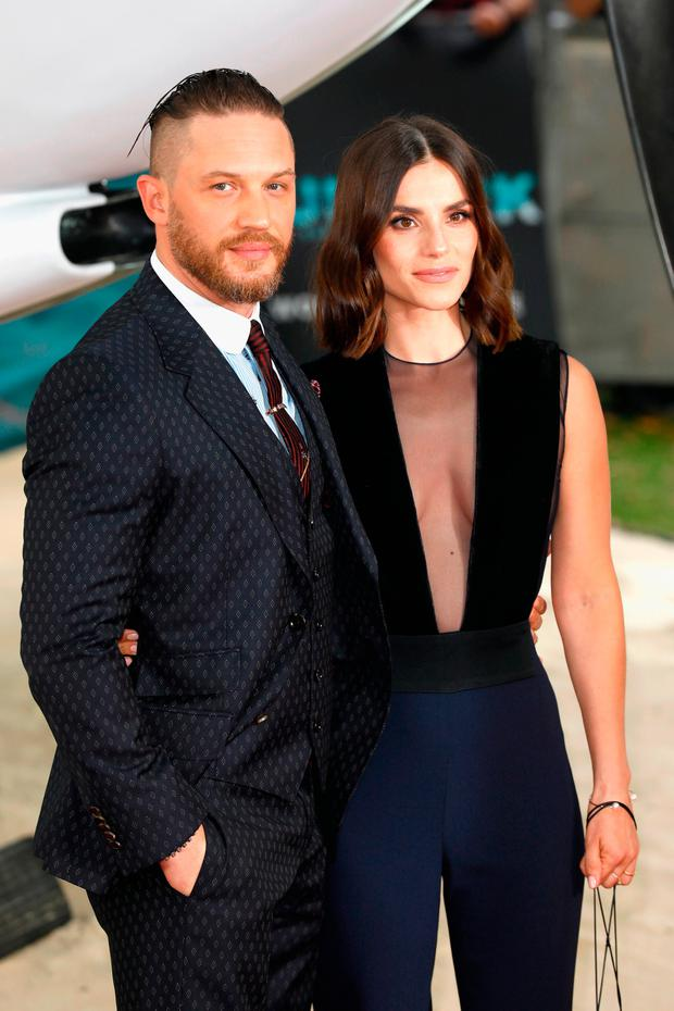 Tom Hardy and wife Charlotte Riley put on loved-up display ...