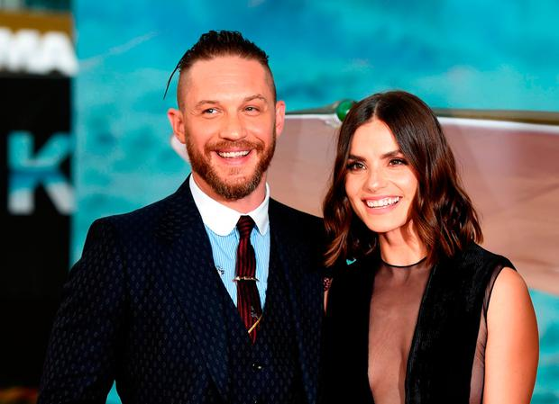 Tom Hardy and Charlotte Riley attend the world premiere of Dunkirk at the Odeon Leicester Square in London