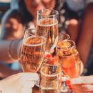 Sparkling drinks on hen night out