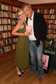 Emily Clarkson and her dad Jeremy Clarkson attend the launch of her first book 'Can I Speak to Someone in Charge?'