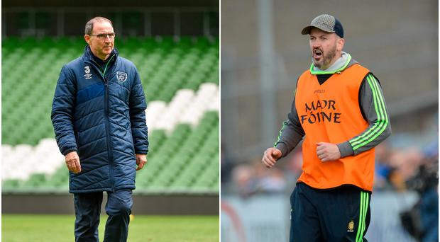 Martin O'Neill (left) and Donal Og Cusack (right).
