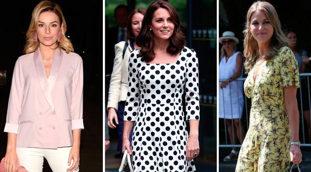 (L to R) Pippa O'Connor, Kate Middleton and Amy Huberman have the same haircut