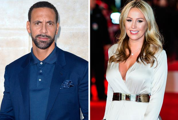 Rio Ferdinand, left, and Kate Wright, right