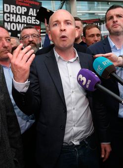 Paul Murphy pictured outside the court Photo: Collins Courts
