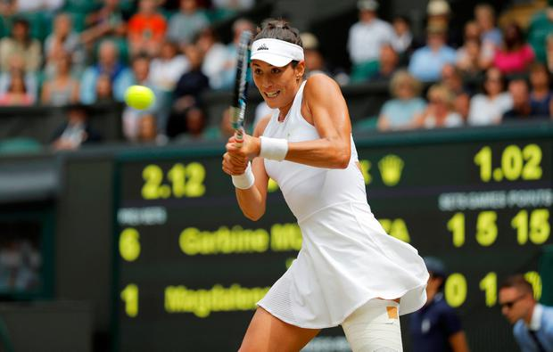 Spain's Garbine Muguruza. Photo: Reuters/Alastair Grant