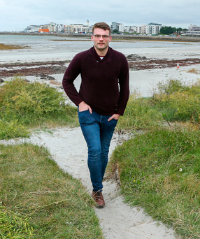 Student Aaron Birchmore struggled to find accommodation and relied on the help of friends before finding a shared house when he finished his studies and started working Photo: Andrew Downes