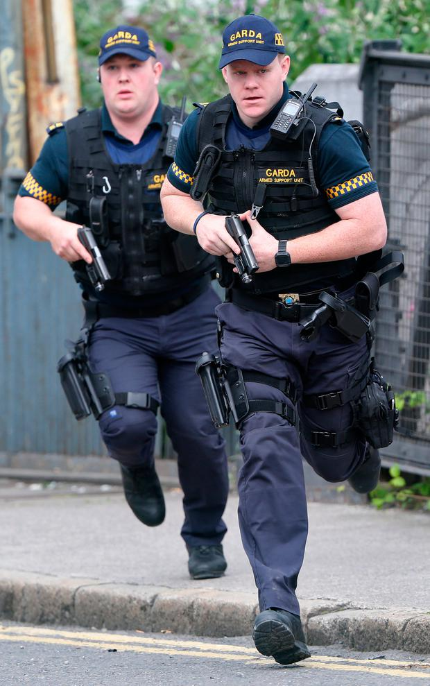 Members of the Garda Armed Support Unit (ASU) Photo: Colin Keegan, Collins Dublin.