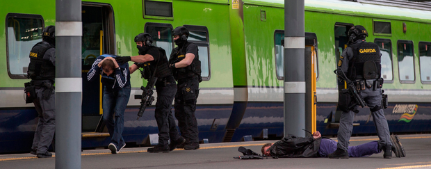 Another scene from the anti-terror exercise Photo: Mark Condren