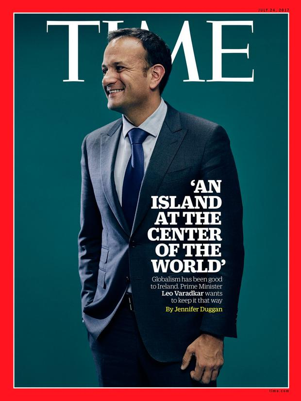 Taoiseach Leo Varadkar on the front of 'Time' magazine