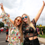 Holly Healy O'Connor and Georgia MacHesney, both 18, from Ballsbridge at the festival Photo: Damien Eagers 14/7/2016