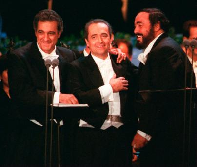 Epic night: The Three Tenors after marking the end of the 1994 World Cup